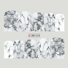 MARBLE Nail Art Stickers Water Transfer DIY Decal (BN-624) - 1 sheet