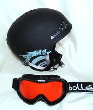 K2 Phase Pro Ski Helmet Black - (S) With Bolle MOJO Ski Lens