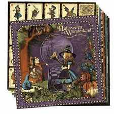 "GRAPHIC 45 ""HALLOWE'EN IN WONDERLAND"" 12X12 PAPER 12 SHEETS SCRAPJACK'S PLACE"