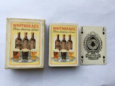 c1930s VINTAGE WHITBREAD'S THREE LEADING LINES ADV PLAYING CARDS