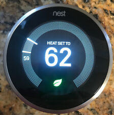 Google Nest Learning Thermostat - Stainless Steel- 3rd Generation - Used