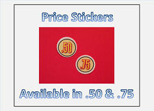 "12 .75 Large 1 1/4"" Bulk Vending Price labels"
