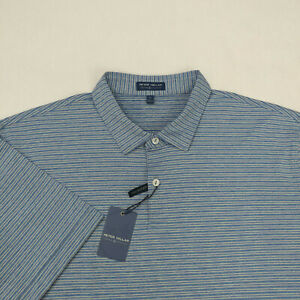 Peter Millar Men's Crown Crafted Polo Shirt Size XL Tailored Fit Blue
