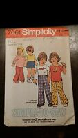 VINTAGE SIMPLICITY KIDS SHORTS PANTS TOP PATTERN 7061 SIZE 3 FREE SHIPPING