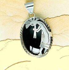 """Navajo Anhänger """" Kokopelli """"     925/000 Silber mit Onyx  Einzelstück!!"""