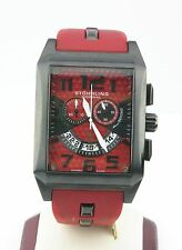 Stuhrling Original Chronograph Square Watch Red Dial & Band, Box & Papers