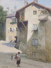 Josef Ferdinand Benesch, Hall in Tirol, Öl auf Karton, um 1930, gerahmt,