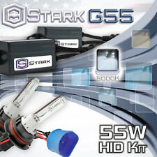 Slim 55W Xenon Hi Lo Dual HID Kit Head Light - 5000K  5K White - 9007 HB5 (B)