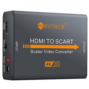Neoteck Aluminum 4K HDMI to SCART Converter Composite HD Video Stereo Audio HDMI