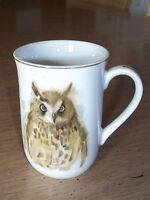 Vintage Enesco Woodland Haven Cup / Mug  with Owl  ~~ Porcelain ~~ Pre-Owned