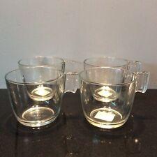 Ikea Stelna Retro Look Modern Tempered Glass Cups Stelna BN Tea Coffee 4oz Set 4