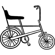 'Chopper Bike' Rubber Stamp (RS026471)