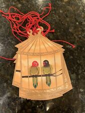 LOT OF 10 MULTI COLOR Love Birds Parrots BIRD GIFT TAGS Tag