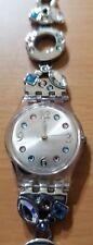 Swatch gemstone analog watch AG 2007 stainless steel transparent case LK292G