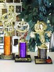 SET OF 3 HALLOWEEN TROPHY WITCH SCARECROW PUMPKIN CARVING& COSTUME CONTEST AWARD