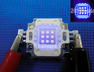 10W High Power LED UV Light Chip 365nm 375NM 385nm 395nm 400nm Ultra Violet