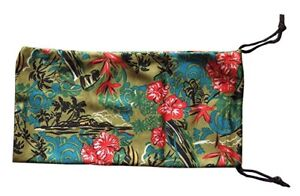 MAUI JIM CASE POUCH LARGE TROPICAL CLEANING CLOTH MICROFIBER FOR SUNGLASSES