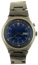 Vintage Seiko Bellmatic Blue Dial Stainless Steel Day Date Alarm Watch 4006-6049
