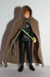 Vintage Star Wars Complete Luke Jedi Moulded Head Figure - 1983 - Snap Cloak