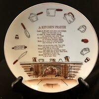 Enesco Kitchen Prayer Plate Made Japan In The 1960's And 1970's Vintage