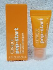 Clinique Pep-Start EYE CREAM All Skin Types Anti-Aging Travel Size .1 oz/3mL New