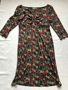Ann Louis Roswald Floral Polyester Knot Front Bardot Dress Size UK 14 Ann Louis