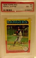 1975 TOPPS MINI FERGIE JENKINS CARD # 60 PSA 8 NM-MT