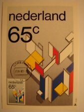 "(NL2225) ART PAINTING ""DE STIJL"" 1983 NETHERLANDS maximum maxi card postcard"