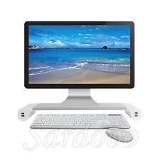 Monitor Untersatz Ständer Desktop Standfuß Ablage Unterlage USB PC Computer