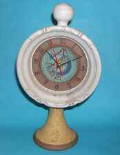 Studio Pottery - Large Statement Piece Pedestal Clock - Fully Working / M.Marks.