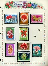 FLOWERS FLORA on White Ace Album Page Lot #24 - SEE SCAN - $$$
