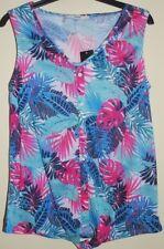 New & Tagged Sleeveless Pretty Print T-Shirt Vest Top Size 8