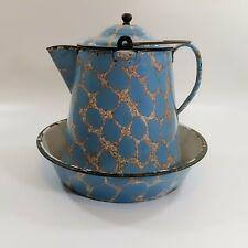 "ANTIQUE GRANITEWARE Boiling Pot and Pan ""DUCHESSWARE"" VOLLRATH CO.1904"