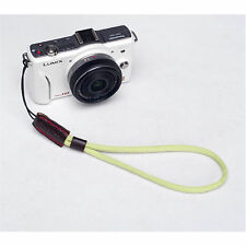 Fotocamera Verde Nylon Mano Cinturino Da Polso Per Canon Nikon Panasonic SONY FUJI SAMSUNG