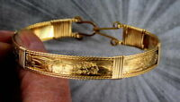Bracelet in 14kt. Rolled Gold Size 6 to 8 Wire Wrapped Unisex