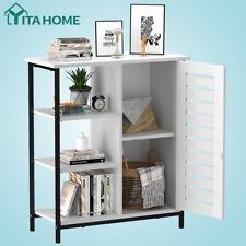 Yitahome Floor Storage Cabinet Wooden Display Bookcase Organizer 3 Shelves White