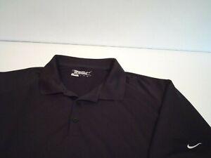 Nike Men's Victory Solid Golf Shirt Size 2XL Black Dri-Fit Polo Top 509167-010