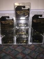2018 Hot Wheels 50th Anniversary Black & Gold Set Of 7 All Cars Have An Error.