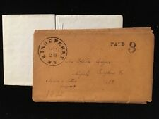 NY KINGS FERRY 1832 STAMPLESS COVER W/CONTENT