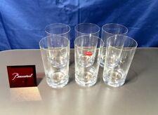 Baccarat Crystal Brummel Set 6 Longdrink Glasses 2102055 Whisky NEW IN BOX