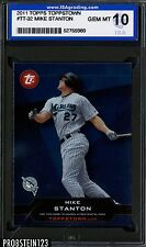 2011 Topps Toppstown Mike Stanton RC Rookie Florida Marlins ISA 10