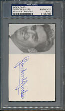 Gordon Juckes Signed Index Card PSA/DNA Certified Authentic Auto Autograph *2889