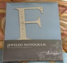 New Weddingstar Jeweled Monogram Wedding Anniversary Cake Topper Letter F
