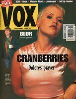 Vox Magazine November 1994 Cranberries Blur REM Oasis Massive Attack 061319DBE