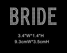 Bride Double Line Diamante Rhinestone Iron On Transfers (XRST073)