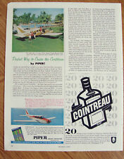 1961 Piper Aztec Airplane  Ad  Caribbean