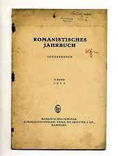 Ulrich Leo#DER DICHTER ALFIERI#Sonderdruck aus Romanistisches Jahrbuch#1952