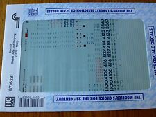 Microscale Decal HO  #87-628 Diesel - Data & Striping Dates:1987-91