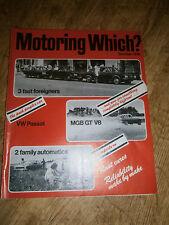Vintage Motoring Which? October 1974 magazine Audi 100GL, Lancia Beta 1800