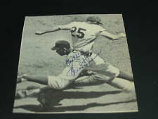 1962 Mets Frank Thomas Auto Signed 4x4 Black & White Newspaper Photo JSA SOA -AN
